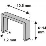 Segtukai metaliniai 6mm (1,2x10,6) D11 1000 vnt. (11Z206)