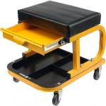 Stačiakampė kėdutė su ratukais ir išstumiamu stalčiumi (81824)