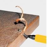 Įrankis nupjauto vamzdelio, išgręžtos skylės šerpetų pašalinimui (TW1000)