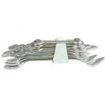 Plokščių raktų rinkinys atviru galu 8 vnt, 6-22 mm (50590)