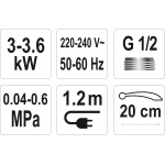 Elektrinis vandens šildytuvas 3000W STROKKUR-1 (75930)