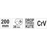 Raktas reguliuojamas | 200 mm (YT-21656)