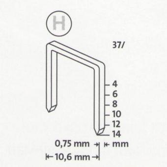 Kabės NOVUS | Tipas 37/14 | Superhard | 1000 vnt. (042-0373)
