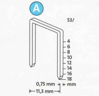 Kabės NOVUS | Tipas 53/14, Superhard, 1000 vnt. (042-0359)