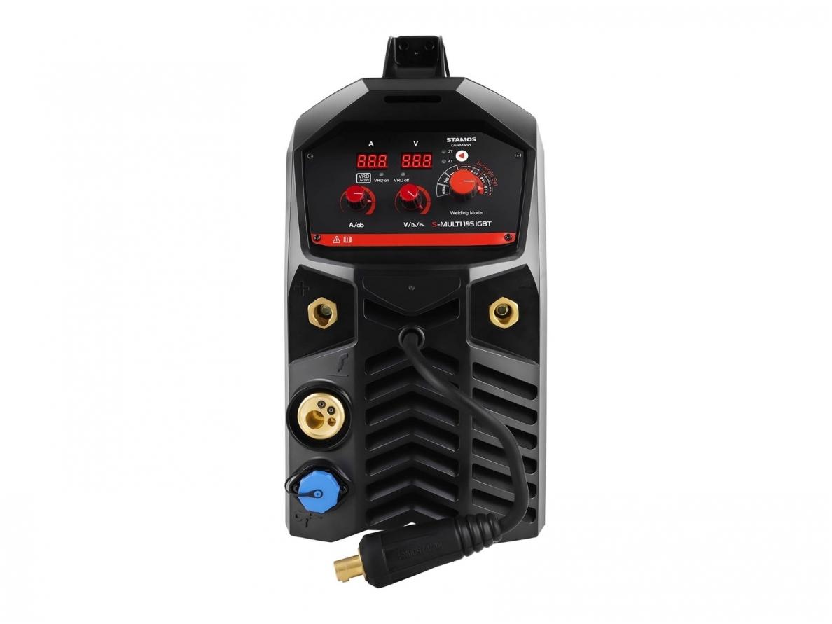 Kombinuotas suvirinimo aparatas S-MULTI 195 IGBT, 195A, 230V, 0,5-10 mm (2162)
