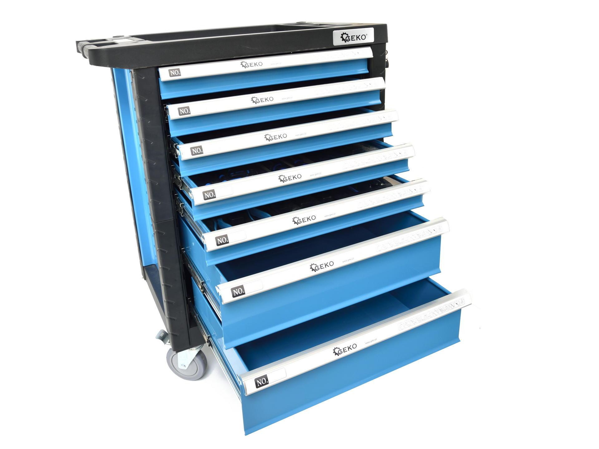 Profesionali įrankių spintelė   272 įrankiai   7 stalčiai (G10830)