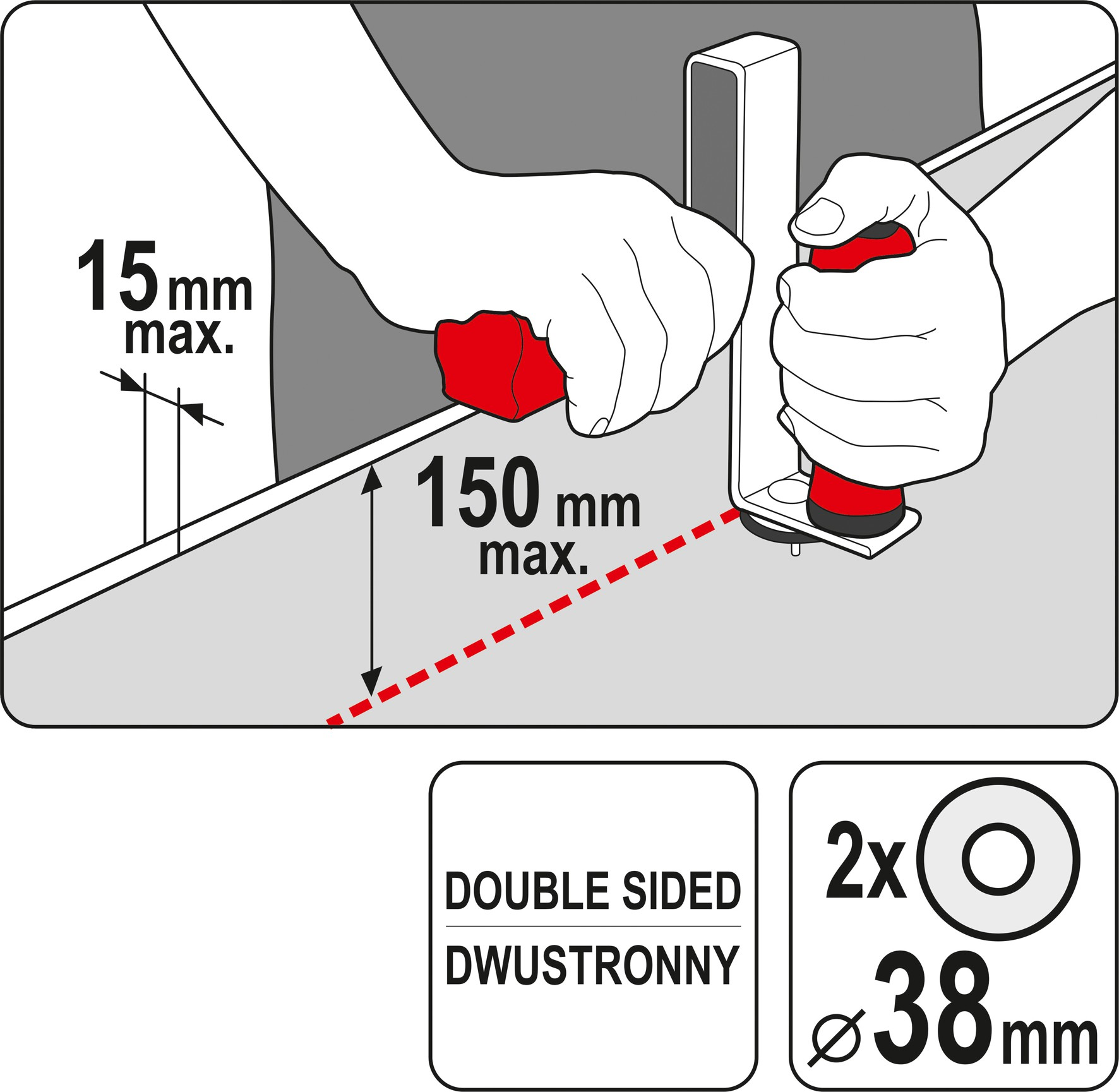 Gipso kartono pjaustyklė | dvipusė (YT-76266)