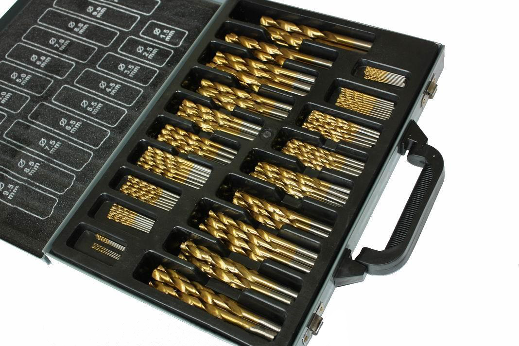 Grąžtų rinkinys metalui TITANIUM 1.0-10.0mm, 170d. (M22306)