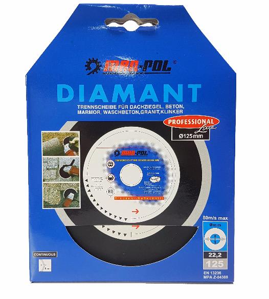 Deimantinis diskas 125x22.2x8mm  (M08746)