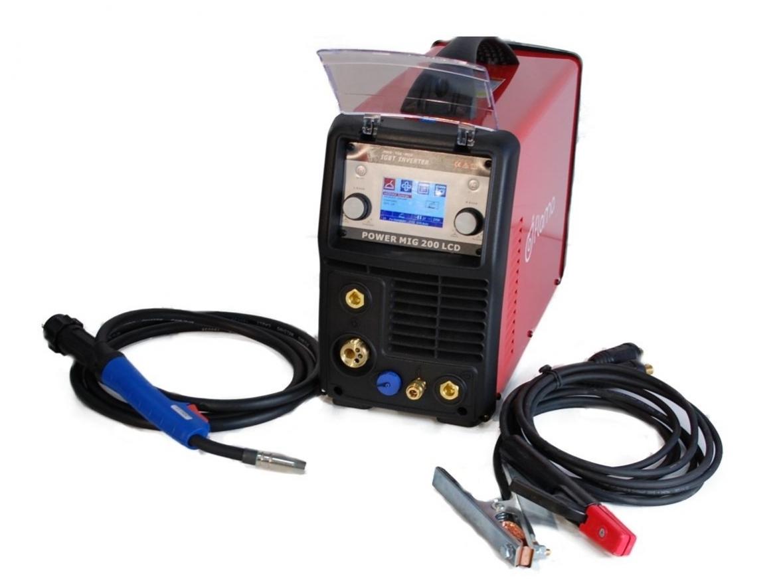 Suvirinimo pusautomatis POWER MIG 200 LCD, 200A, 230V (WTL2006)
