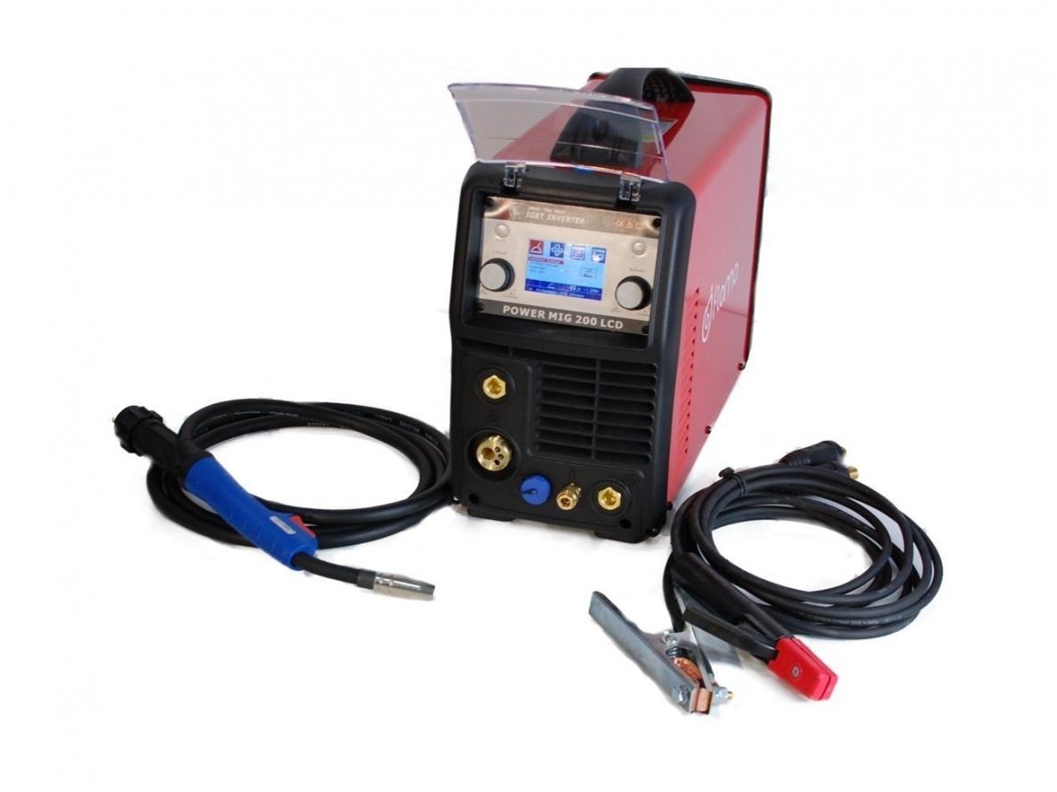Suvirinimo aparatas MIG 200 LCD Synergic, 200A, 230V (WTL2008)
