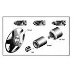 Smūginė specializuota galvutė (plonasienė) ratų slapukams atsukti 1/2'', 17mm (NISK-40170)