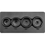 Galvutės filtrui 4 vnt, 27, 32, 36, 38 mm (YT-0598)