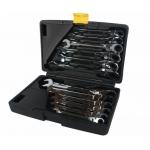 Terkšlinių raktų komplektas vartoma galvute 8-19 mm. 12 vnt. (3102401N-12PC)