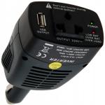 Adapteris/inverteris iš 12V cigarečių lizdo į 220V su 5V USB lizdu (63528)