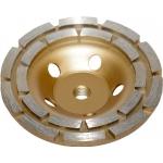 Deimantinis šlifavimo diskas | lėkštės tipo | dviejų eilių | M14x125 mm (DR0125B)