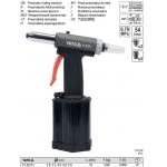 Kniediklis pneumatinis 2,4 - 5,00 mm/5Bar (tinka plieninėm kniedėm) (YT-36171)