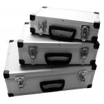 Aliuminių lagaminų rinkinys 3 vnt. (ABS03)
