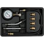 Kompresijos matuoklis benzininis | su antgaliais | 8 vnt. (YT-73022)