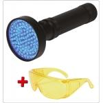 UV žibintuvėlis ir akiniai kondicionavimo sistemos nuotėkio aptikimui | UV 100 LED (YT-08582)