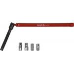 Specialus raktas santechnikos darbams | su galvutėmis | 180° (YT-24780)