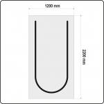 Uždangalas durų angoms | daugkartinis | tipas U | 220 X 120 cm (YT-67220)