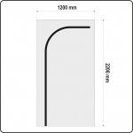 Uždangalas durų angoms | daugkartinis | tipas L | 220 X 120 cm (YT-67221)
