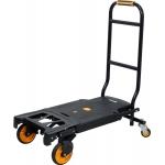 Sulankstomas transportavimo vežimėlis   2 viename   keliamoji galia 130 kg (78663)