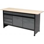 Stalas įrankių dirbtuvėms 1700 x 600 mm (58456)
