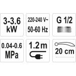 Elektrinis vandens šildytuvas 3000W STROKKUR-3 (75932)