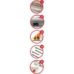 Infraraudonujų spindulių šildytuvas su stovu 2000W, pultas (DA-IR2000RS)