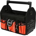 """Krepšys įrankiams karkasinis su aliumine rankena 13"""", 17 kišenių (YT-74372)"""