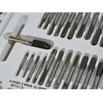 Sriegiklių ir sriegpjovių komplektas M2 - M18 110 vnt. (G38300)
