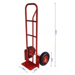Transportavimo vėžimėlis 250kg, raudonas (M80086)