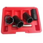 Pailgintų galvučių rinkinys sugadintiems varžtams 4 vnt, 17-19-21 ir 22 mm (V1743)