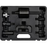 Purkštukų iškalėjų rinkinys su atbuliniu plaktuku ir adapteriais | 8 vnt. (YT-06176)