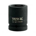 """Galvutė smūginė šešiakampė 3/4"""" 25 mm (YT-1075)"""