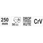 Raktas reguliuojamas | 250 mm (YT-21657)