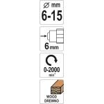 Freza medžiui | 6 - 15 mm (YT-61703)