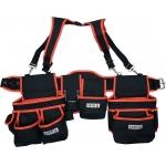 Įrankių diržas su petnešomis ir kišenėmis (YT-74070)