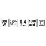 Dažymo pistoletas elektrinis | sienoms ir luboms | 500 W (YT-82550)