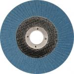Šlifavimo diskas lapelinis išgaubtos formos mėlynas 125mm P100 INOX (YT-83335)