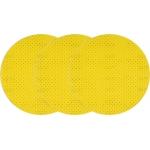 Šlifavimo diskas perforuotas | veliūras | šlifavimas be dulkių | 225 mm / P100 | 3 vnt. (YT-84602)