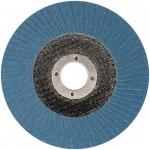 Šlifavimo diskas lapelinis išgaubtos formos ZIRCONIUM INOX P40 125X22,2mm (ES815040)