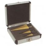 Grąžtų pakopinių rinkinys 3vnt. (4-32mm) (FT47)