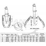 Guolių nuėmėjas trišakis hidraulinis 250mm / 10t (SK14101)