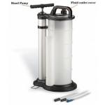 Rankinis techninių skysčių išsiurbimo/įsiurbimo bakas 9L su vakuuminiu siurbliu (HTG1042A)