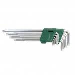 L-tipo šešiakampių TORX vidutinių raktų rinkinys 9vnt. (T10-T50) (CL402002)