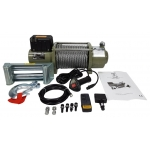 Akumuliatorinė traukimo gervė 16800 lbs/ 24V /plieninis lynas/ (M80820)