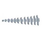 Svareliai balansavimui kalami (100vnt) 15g (YSFEAL2115)